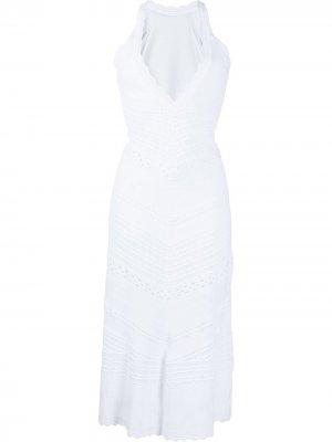 Платье миди с вырезами Alexis. Цвет: белый