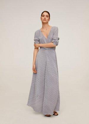 Длинное плиссированное платье - Zafiro-a Mango. Цвет: серебро