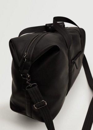 Дорожная сумка из искусственной кожи - Weeklea Mango. Цвет: черный