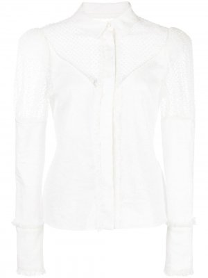 Рубашка Virginia с прозрачными вставками Alexis. Цвет: белый