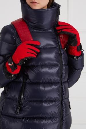 Контрастные перчатки Moncler. Цвет: multicolor