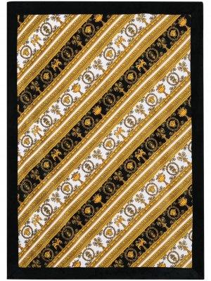 Пляжное полотенце с принтом Baroque Versace. Цвет: черный