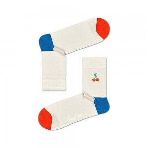 Embroidery Cherry Half Crew Sock Happy Socks. Цвет: бежевый