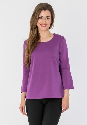 Лонгслив S&A Style. Цвет: фиолетовый