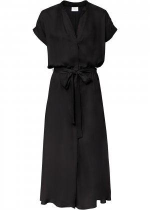 Платье-рубашка bonprix. Цвет: черный