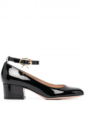 Туфли с лентами Gianvito Rossi. Цвет: черный