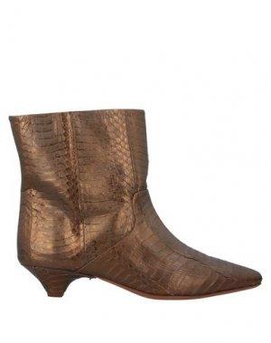 Полусапоги и высокие ботинки FORTE_FORTE. Цвет: бронзовый