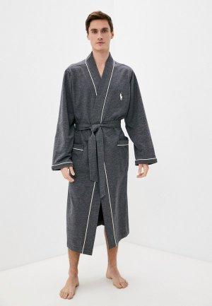 Халат домашний Polo Ralph Lauren. Цвет: серый