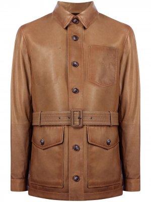 Куртка с поясом Man On The Boon.. Цвет: коричневый