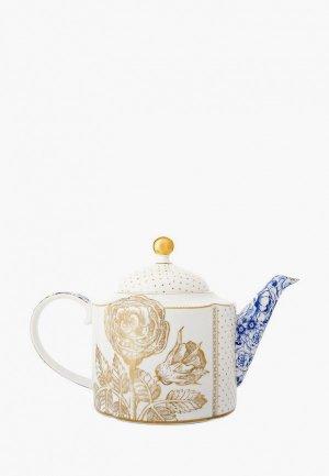 Чайник заварочный Pip Studio Royal. Цвет: белый