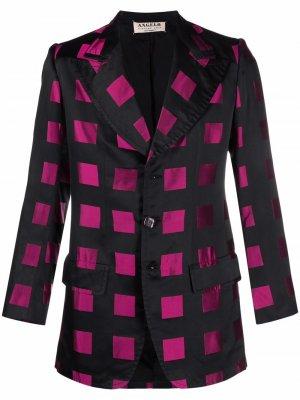Однобортный пиджак 1960-х годов в клетку A.N.G.E.L.O. Vintage Cult. Цвет: черный