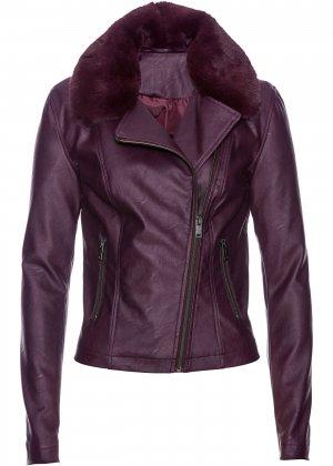 Куртка из искусственной кожи bonprix. Цвет: лиловый
