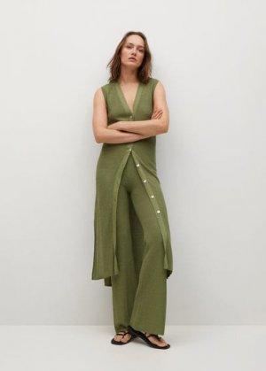Трикотажные брюки-клеш - Rustic Mango. Цвет: хаки