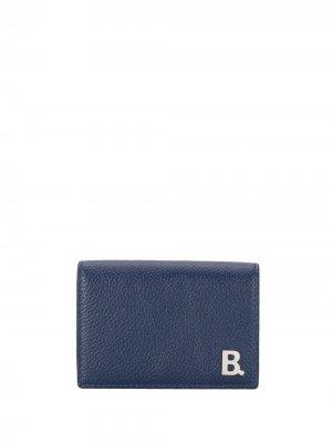 Кошелек с логотипом Balenciaga. Цвет: синий