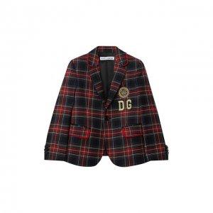 Шерстяной пиджак Dolce & Gabbana. Цвет: разноцветный