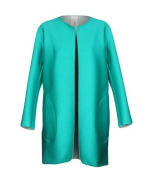Легкое пальто MANUELA CONTI. Цвет: светло-зеленый