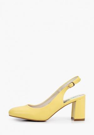 Туфли Betsy. Цвет: желтый