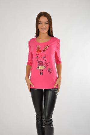 Футболка El Fa Mei. Цвет: розовый