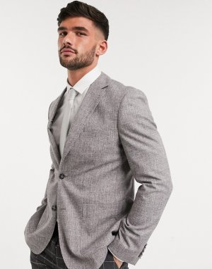 Узкий пиджак -Серый Harry Brown