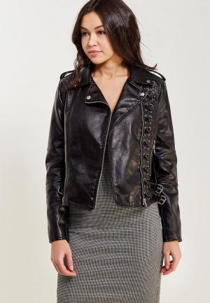 Куртка кожаная Imocean. Цвет: черный