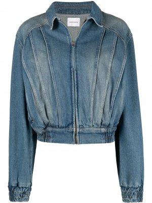 Джинсовая куртка-бомбер Magda Butrym. Цвет: синий