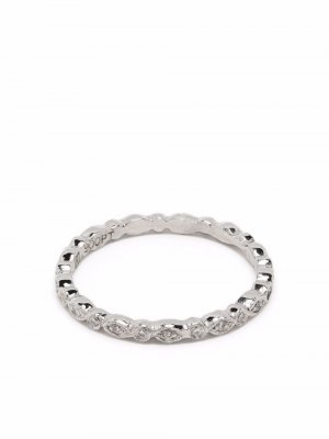 Кольцо Tiny Marquise с бриллиантом Cathy Waterman. Цвет: серебристый
