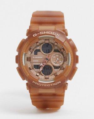 Наручные часы цвета розового золота G Shock GMA-S140NC-Золотой Casio