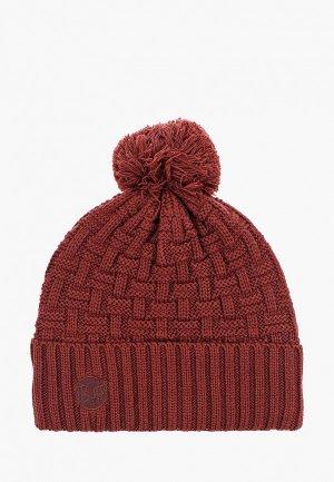 Шапка Buff Knitted&Polar Hat Airon. Цвет: бордовый