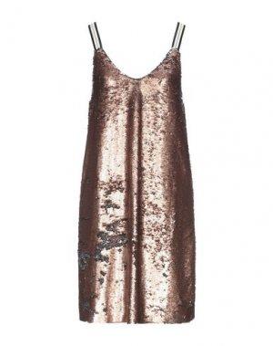 Короткое платье BSB. Цвет: медный