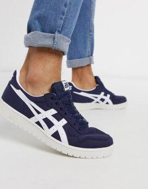 Темно-синие кроссовки -Синий Asics