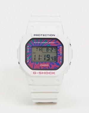 Белые цифровые часы G-shock DW-5600DN-7-Белый Casio