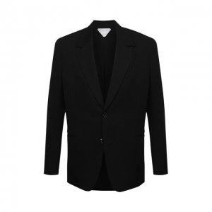 Шерстяной пиджак Bottega Veneta. Цвет: чёрный