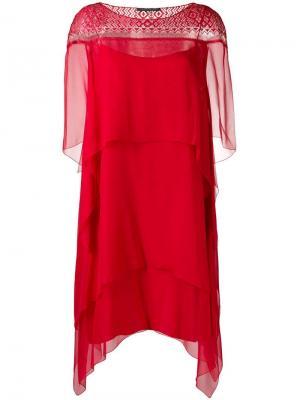Ярусное платье Alberta Ferretti