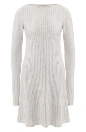 Вязаное кашемировое платье Loro Piana. Цвет: светло-серый
