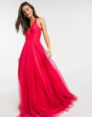 Красное платье макси -Красный Jovani
