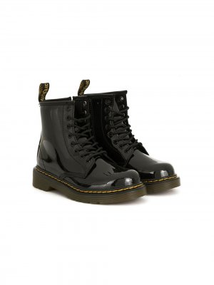 Ботинки 1460 на шнуровке Dr. Martens Kids. Цвет: черный