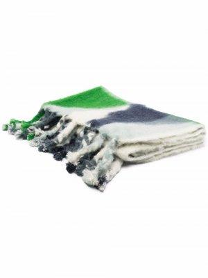 Одеяло в стиле колор-блок Jil Sander. Цвет: зеленый