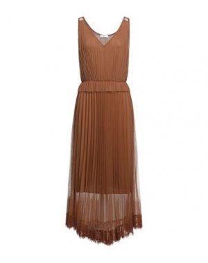 Длинное платье B.YU. Цвет: коричневый
