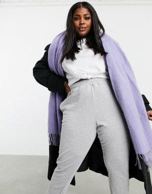 Ультрамягкий длинный шарф с кисточками пыльно-лавандового цвета -Фиолетовый ASOS DESIGN