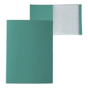 Папка а4, 100 прозрачных вкладышей, 700 мкм, calligrata, песок, зелёная Calligrata