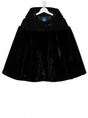 TEEN faux fur hooded jacket Fay Kids. Цвет: черный