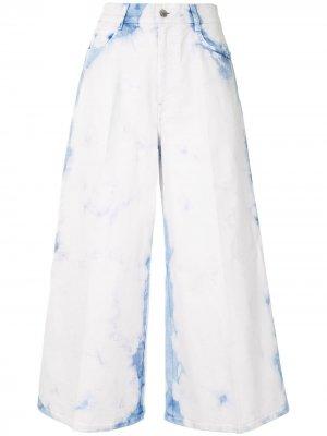 Широкие укороченные джинсы Stella McCartney. Цвет: белый