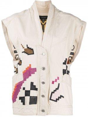 Джинсовая куртка Erilane без рукавов Isabel Marant. Цвет: нейтральные цвета