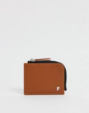 Бумажник на молнии из искусственной кожи -Коричневый цвет Fenton
