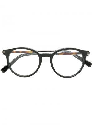 Очки для зрения в округлой оправе Salvatore Ferragamo Eyewear. Цвет: чёрный