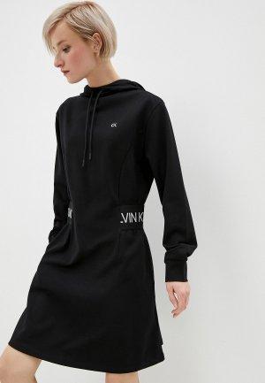 Платье Calvin Klein Performance. Цвет: черный