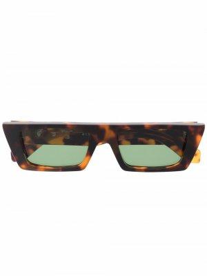 Солнцезащитные очки Marfa в прямоугольной оправе Off-White. Цвет: коричневый