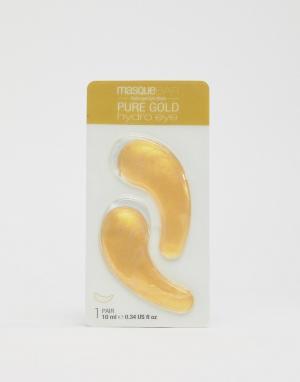 Охлаждающие патчи для глаз Pure Gold Brightening Hydro Gel-Золотистый MasqueBAR