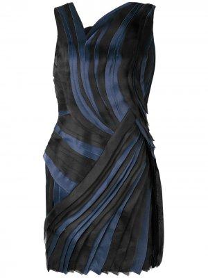 Асимметричное плиссированное платье LANVIN. Цвет: черный