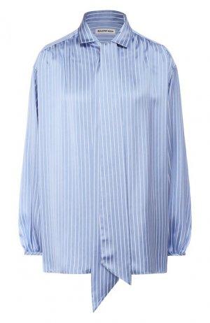 Блузка в полоску Balenciaga. Цвет: голубой